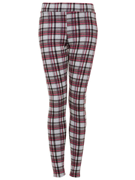 TOPSHOP - SPRING KNITTED CHECK TREGGINGS