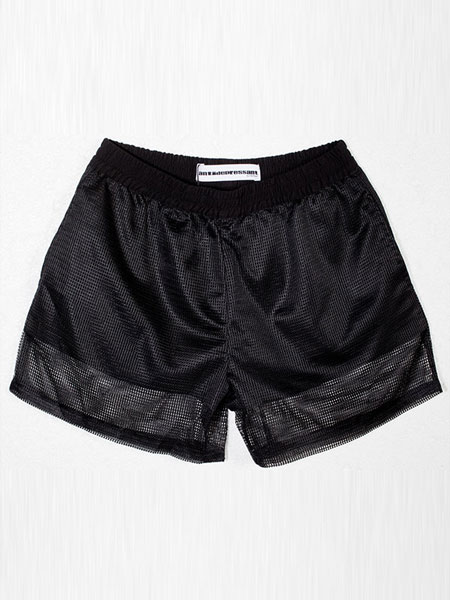 NETTED ELASTIC SHORTS