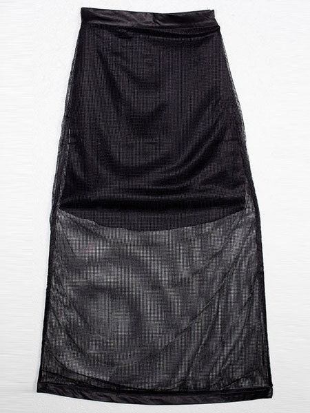 NETTED MAXI SKIRT