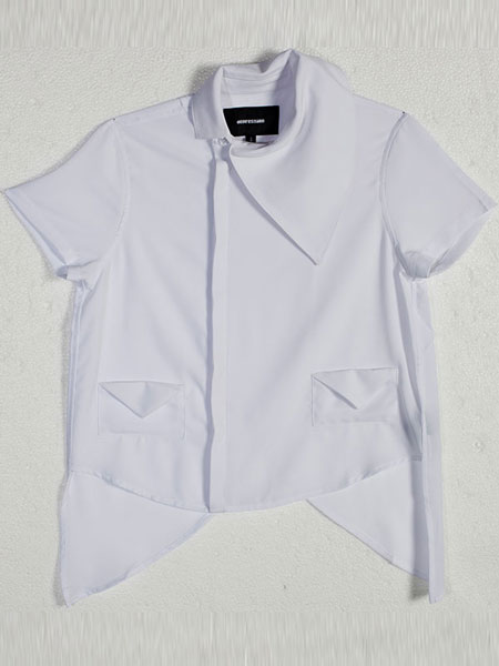 SPLIT BACK SHIRT (WHITE)