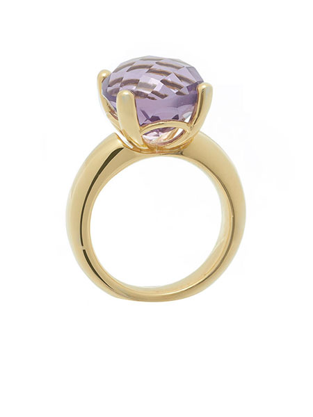 ROUND CELEBRATION SOLITAIRE RING IN AMETHYST