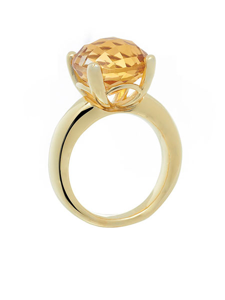 ROUND CELEBRATION SOLITAIRE RING IN CITRINE