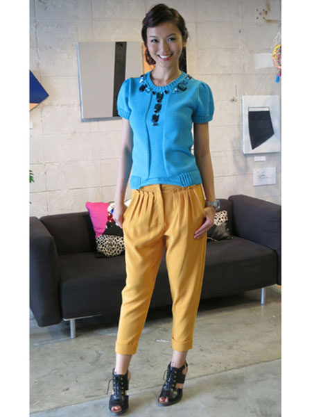 PLUMPYNUTS - MUSTARD CROPPED TROUSERS