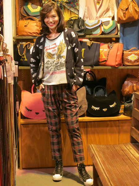 WEGO - PLAID TROUSERS