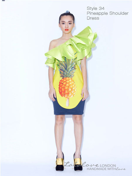 PINEAPPLE TOGA DRESS