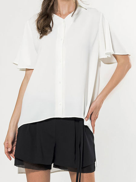 FLARE SLEEVE BLOUSE IN IVORY