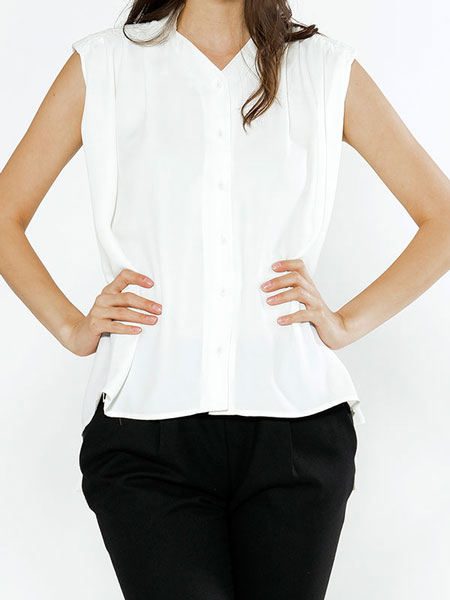 PAD BLOUSE IN WHITE