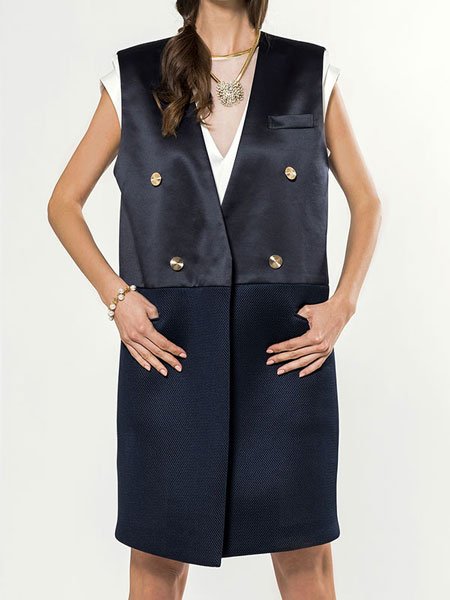 SATIN COLOR MATCH LONG VEST