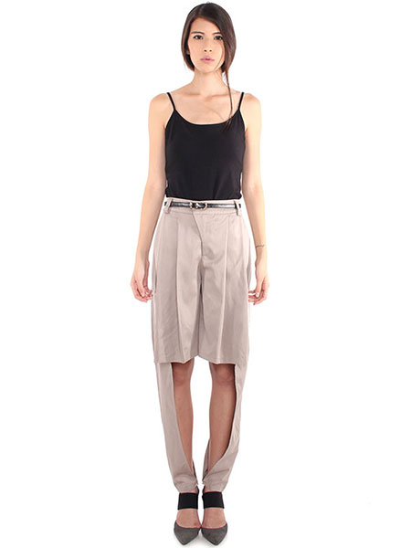 CULOTTES PLEATED PANTS