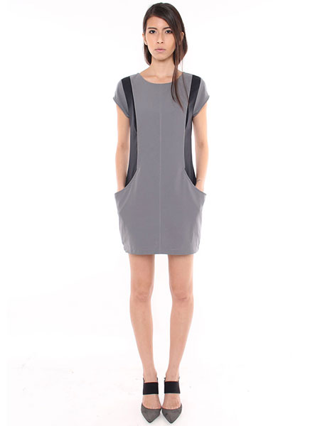 SPATIAL SHIFT DRESS