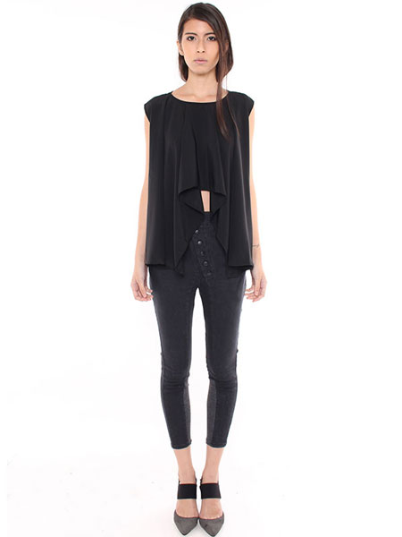 WATERFALL DRAPE TOP