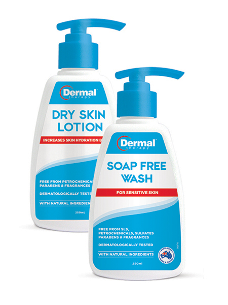 DERMAL THERAPY SOAP FREE WASH (250ML) + DRY SKIN LOTION (250ML)