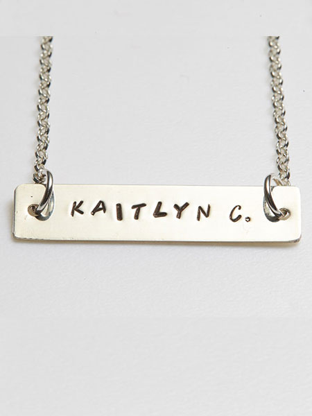 PERSONALISED BAR PENDANT NECKLACE