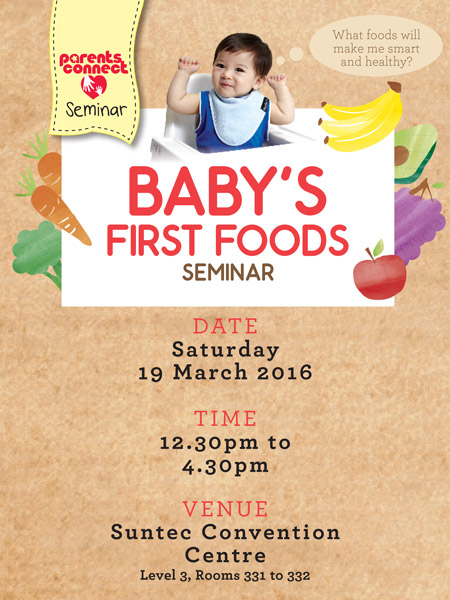 PARENTS CONNECT: BABY'S FIRST FOODS SEMINAR (SINGLE TICKET)