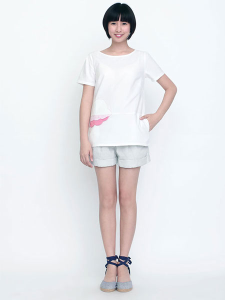 FLOWER BY YOUR SIDE BLOUSE WHITE AND PINK